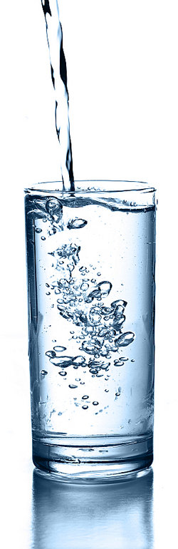 Tall glass of fresh water