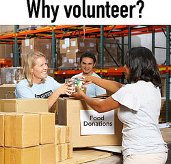 volunteers collecting donations
