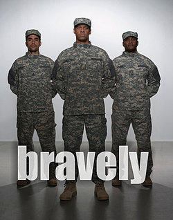 Military personnel pose bravely in uniform