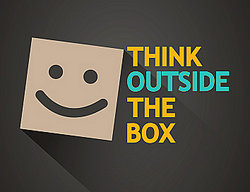 "prepositional phrase ""think outside the box"""