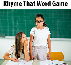 Students playing Rhyme That Word game