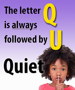 The letter Q is always followed by U