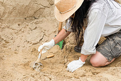 woman archaeologist