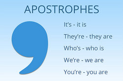 apostrophes used in contractions