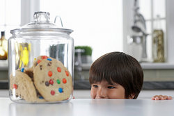 There were cookies in the jar.