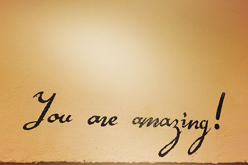 exclamatory sentence: You are amazing!