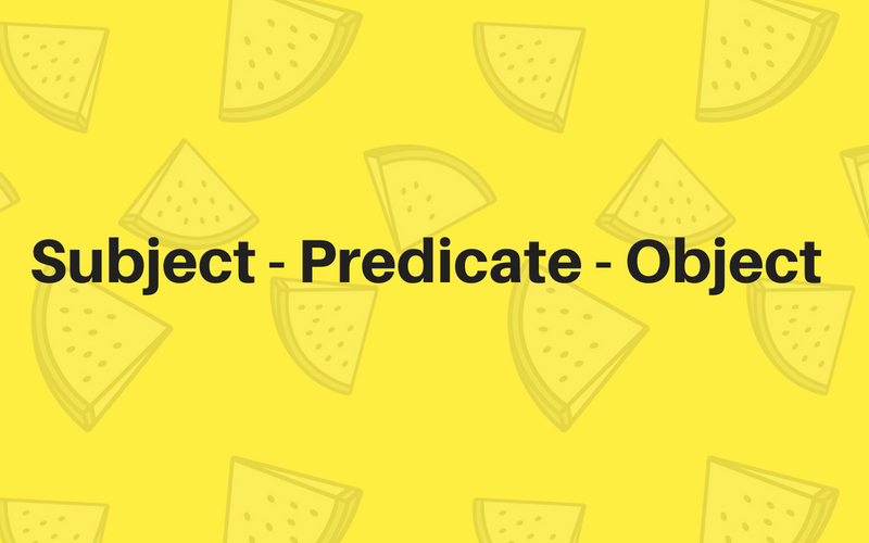 Understanding Subjects, Predicates and Objects