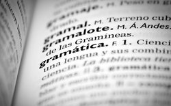 Spanish definition of the word gramatica