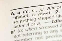 "The letter ""A"" in the dictionary"