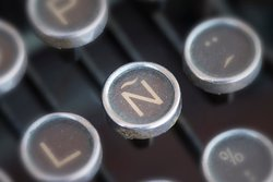The letter N on a typewriter
