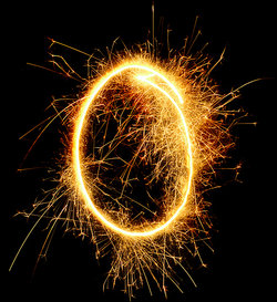 fireworks in shape of letter O