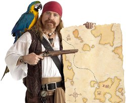 Pirate with a treasure map