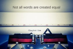 Writing on a manual typewriter: Not all words are created equal