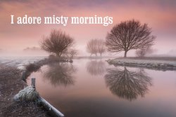 Misty morning at River Stour in Dedham, Suffolk, UK
