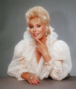 Portrait of Eva Gabor in 1990