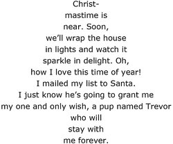 Christmas Tree Shape Poem