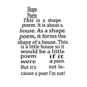 House Shape Poem