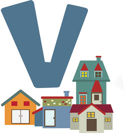 v is for village