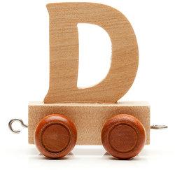 capital letter d on wood car