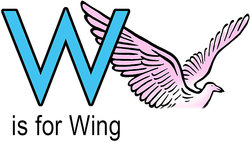 W is for wing