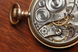complex inner workings of pocket watch