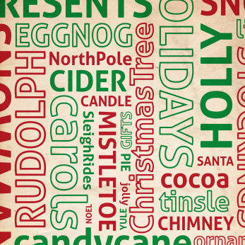 ... Christmas Tree Words Wall Decal Size