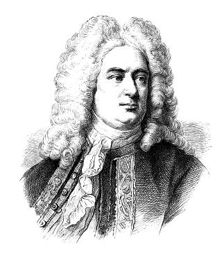 Portrait sketch of George Handel