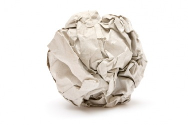 A wad of paper.
