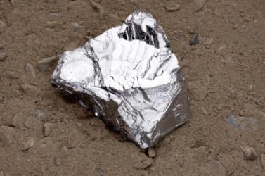 A zinc nugget.