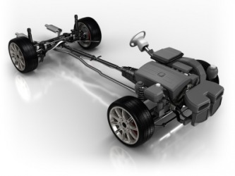 A car chassis.