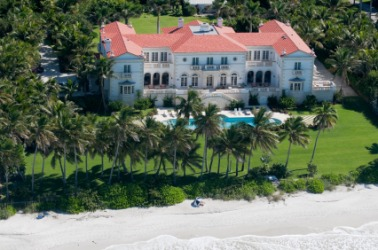 An oceanfront estate.