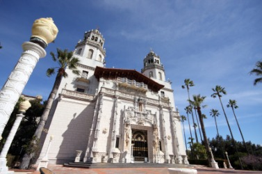 Hearst Castle is an example of a manor.
