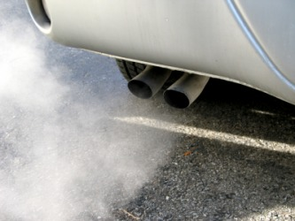 Emissions from a car.