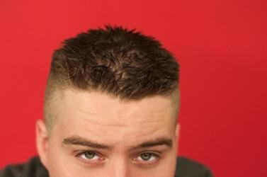 This man's hair is en brosse.