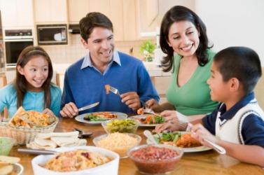Dinner en famille.