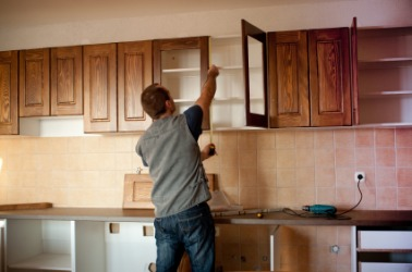 New fitments for a kitchen.