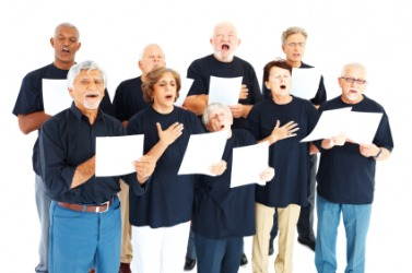 Active members of a choir.