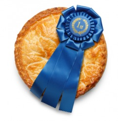 The winning pie in a bake-off.