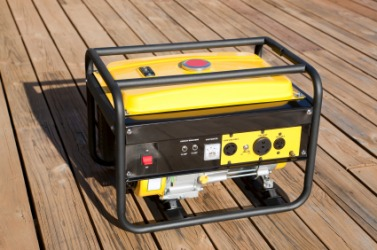 A portable electric generator.
