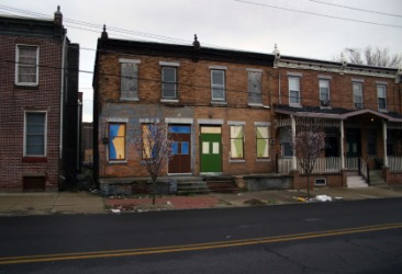 A street in a ghetto.