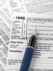 Documents for a United States income tax return.