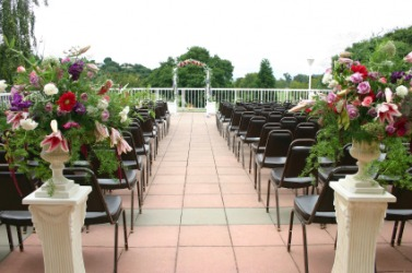 Seating for a large-scale wedding.