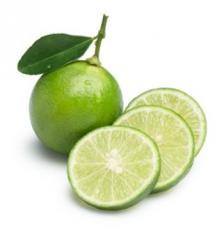 A whole lime with slices.
