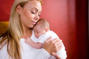 A very maternal moment.
