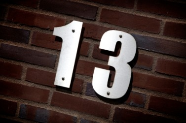 Thirteen is a numeral.