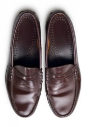 A pair of penny loafers.