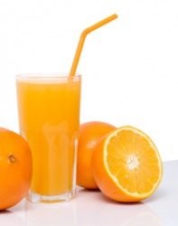 A beverage made from oranges.