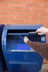 A person sends a letter.