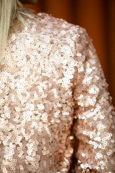 Detail of a sequined jacket.