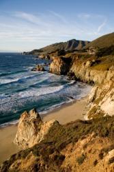 The beautiful terrain of the California coast.